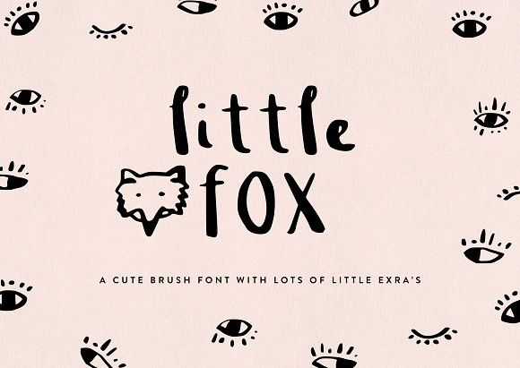 Little Fox Brush Font by GraphicSupplyCo  on @creativemarket