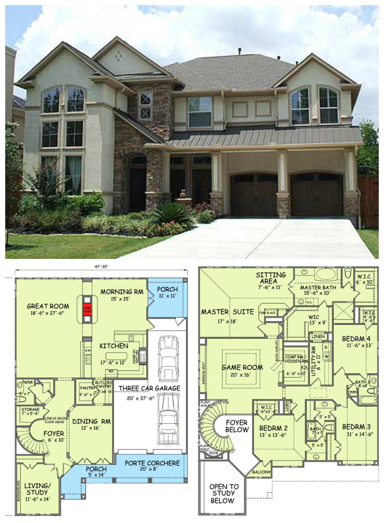 Floor Plan With Hidden Room Affordable House Plans House Plans Dream House Plans