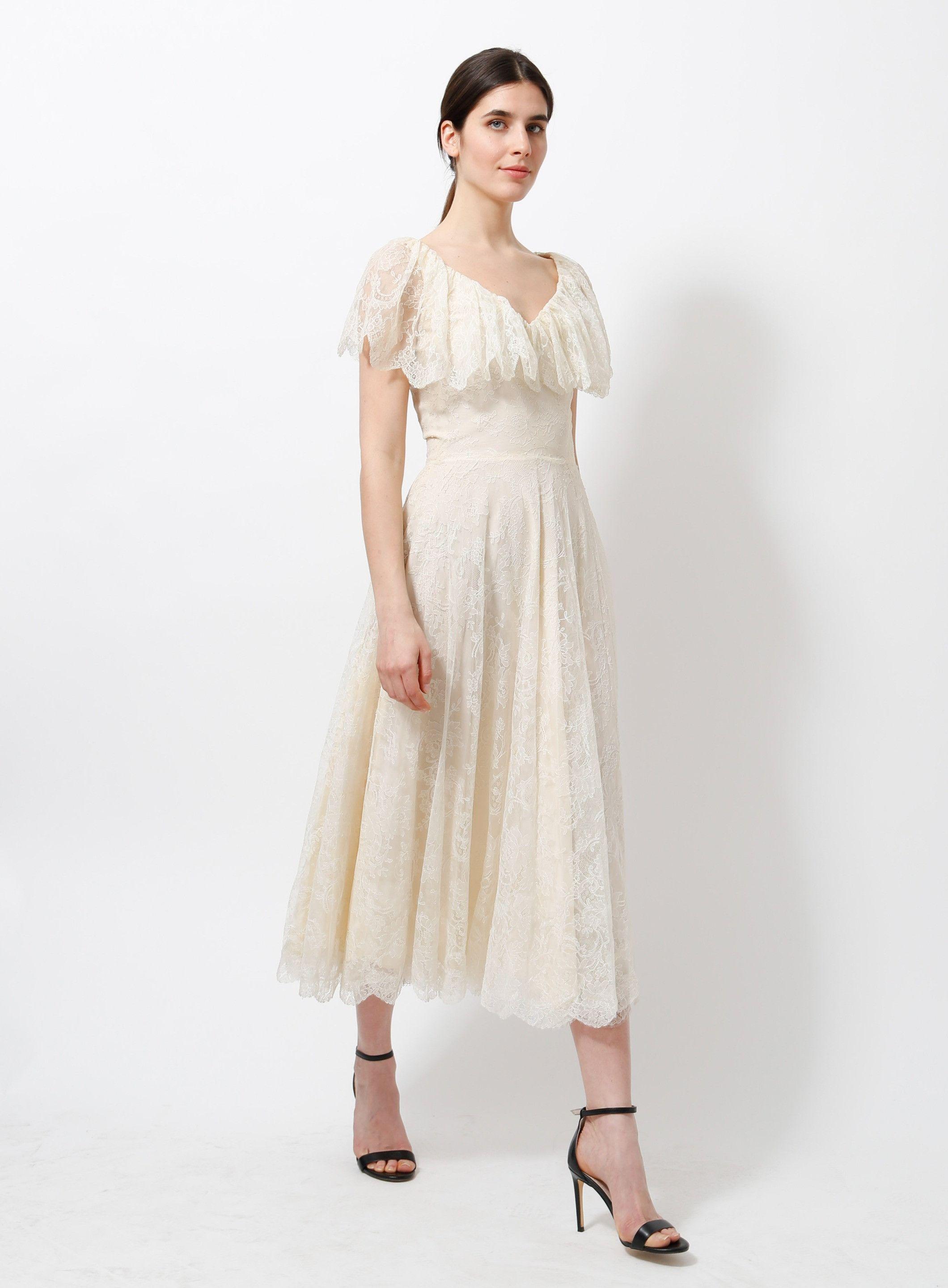 80s Ruffled Lace Dress Dresses Lace Dress Lace Dress Vintage [ 2879 x 2120 Pixel ]
