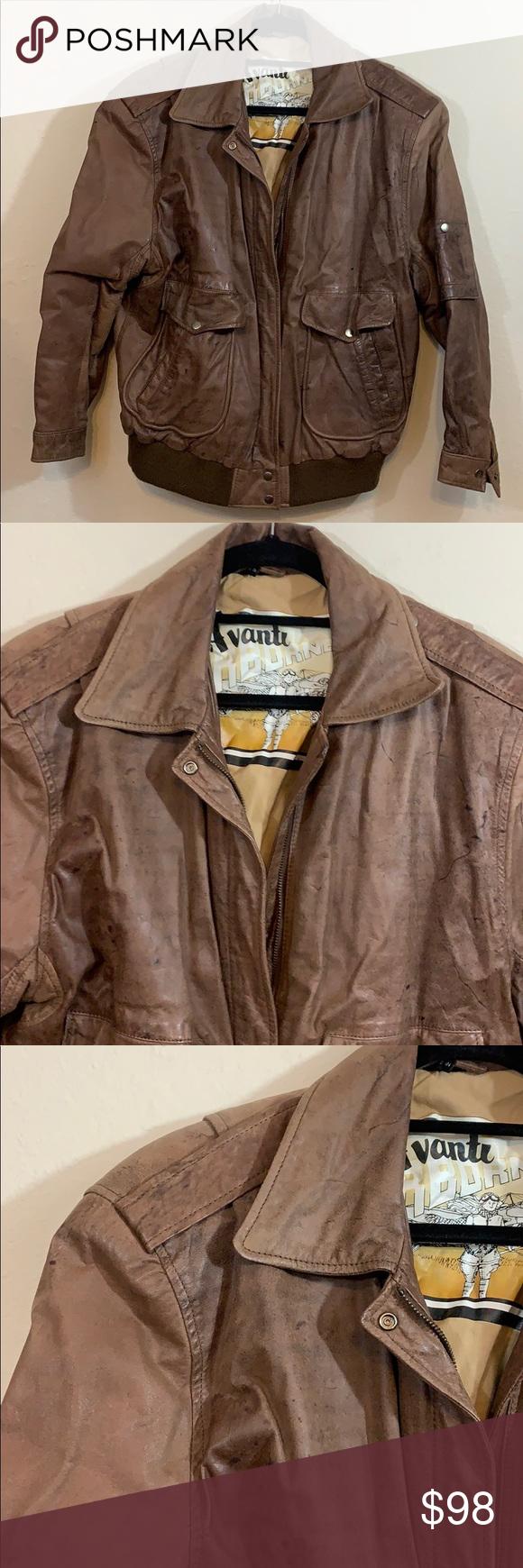 Leather Jacket Avanti Airborne Sz L Leather Jacket Jackets Aviator Style [ 1740 x 580 Pixel ]