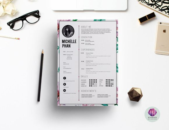 This elegant and professional resume will help you get noticed - pretty resume template