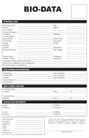 Personal Letter Of Reference Template Image Result For Personal Biodata  P Biodata  Pinterest