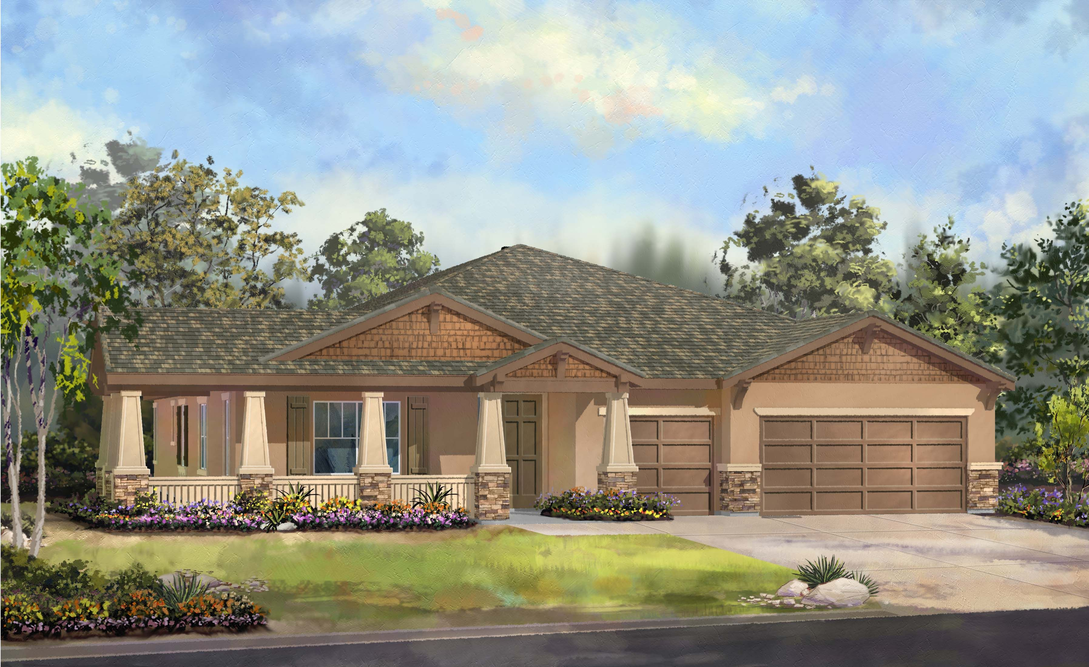 Ranch homes this large ranch style home boasts almost for Ranch style home builders