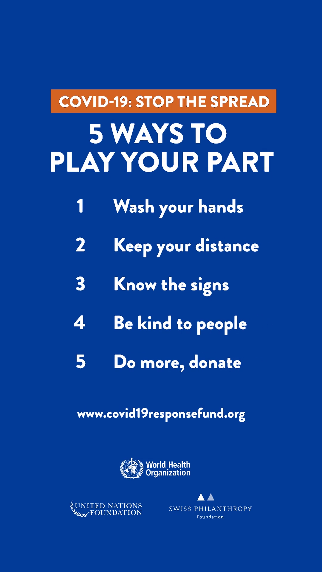 We Ve Got To Work Together To Stop The Spread Of Covid 19 Here Are 5 Simple But Effective Things You Can Do To Protect Yourself And Others Including Donate G
