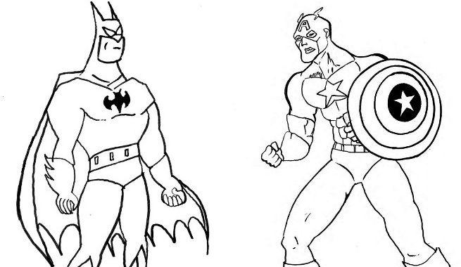 Dibujos De Superman Para Colorear Pintar E Imprimir Gratis: Dibujos Para Pintar Super Heroes