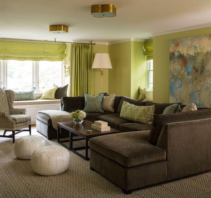 Katie Destefano Design Brown And Green Living Room Living Room Turquoise Brown Living Room Decor #turquoise #and #brown #living #room #furniture