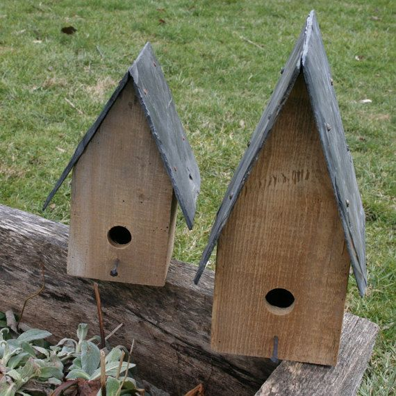 Reclaimed Slate Roof Birdhouses By Haycreekdesign On Etsy Slate Roof Bird Houses Slate Shingles