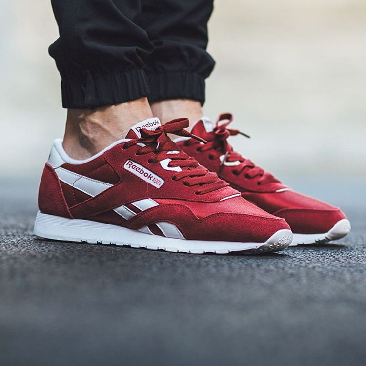 Autumn/Winter 2017 Women / Men Reebok Classic Nylon White/Walnut/Burgundy/ black shoes UK ZB69004844