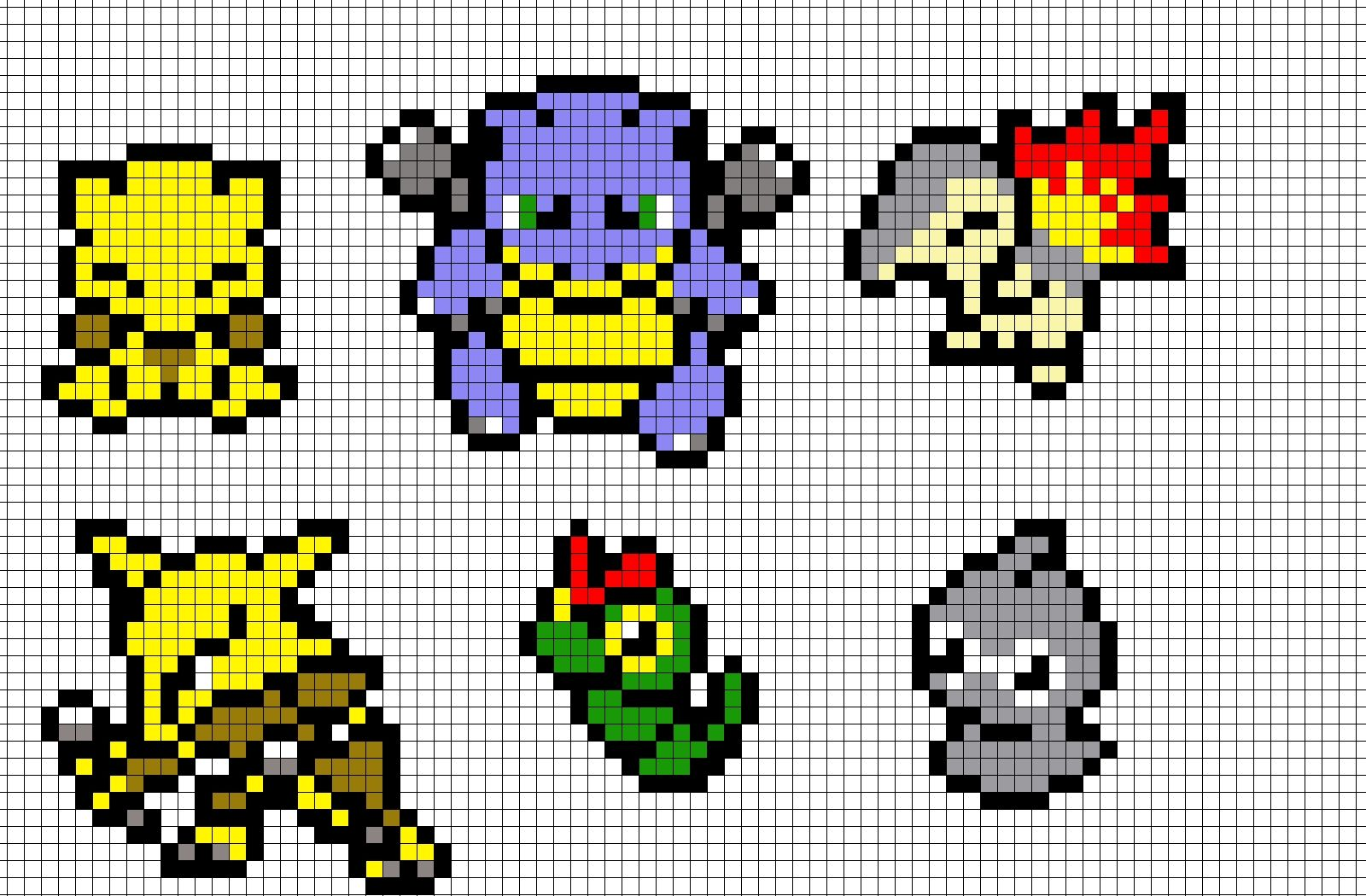 Pokemon Pixel Art Templates Pokemon Pixel Art By Brainless937 Fan