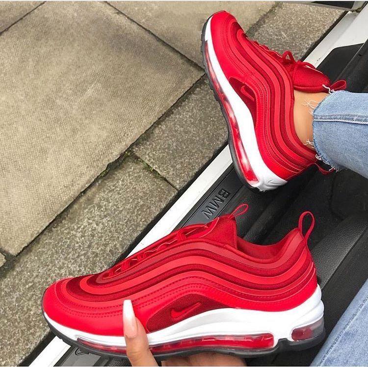 Air max 97 rood | Nike schoenen, Schoenen dames, Tennisschoenen
