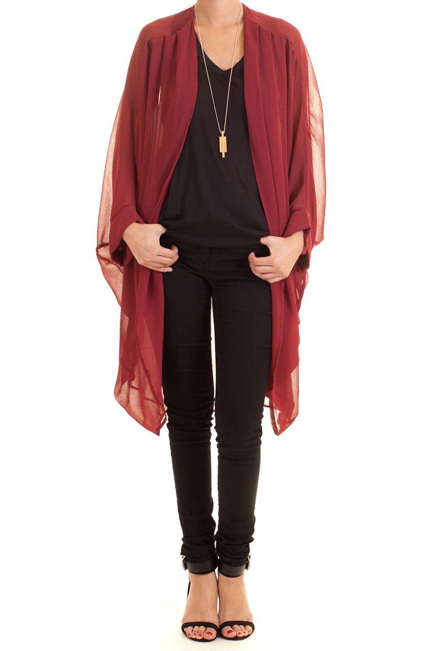 http://www.jasperplum.com/sheer-cocoon-kimono-cardigan-maroon ...