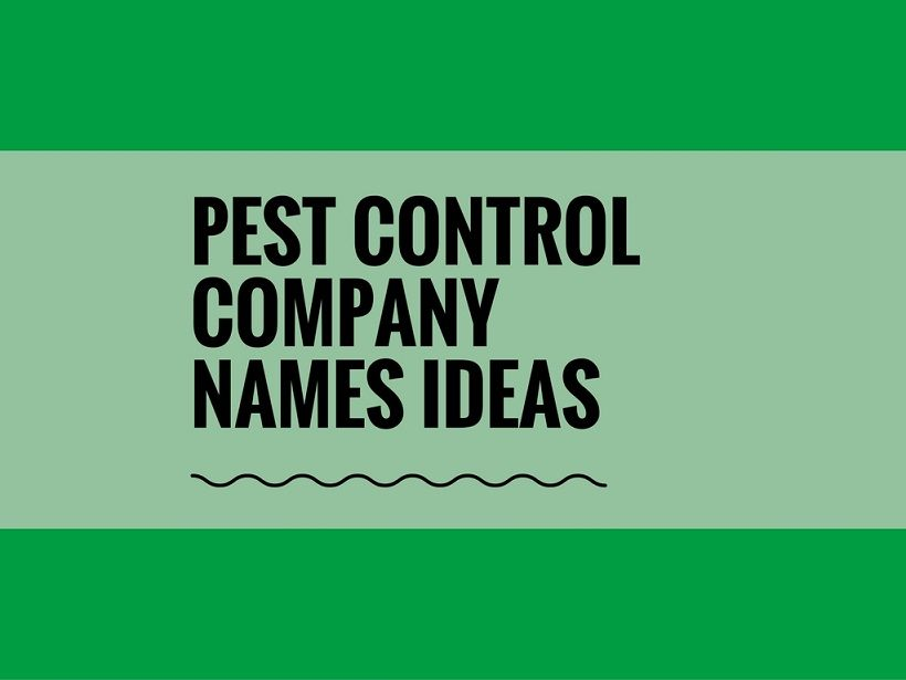 465 Best Pest Control Company Name Ideas Video Infographic Best Pest Control Company Names Pest Control