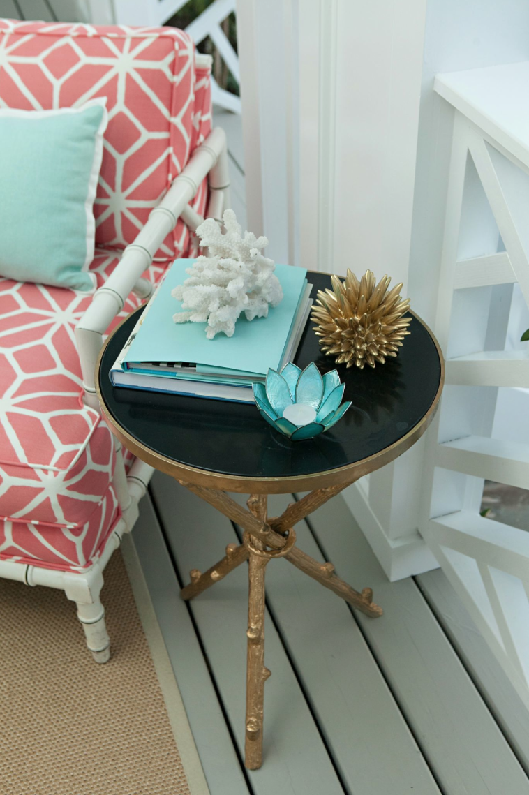 Gold Base Side Table Bliss Happy Decorating Pinterest