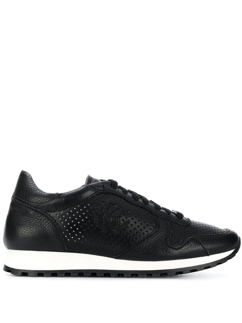Roberto Cavalli Perforated Runner Sneakers Farfetch Roberto Cavalli Sneakers Dress Shoes Men [ 1067 x 800 Pixel ]