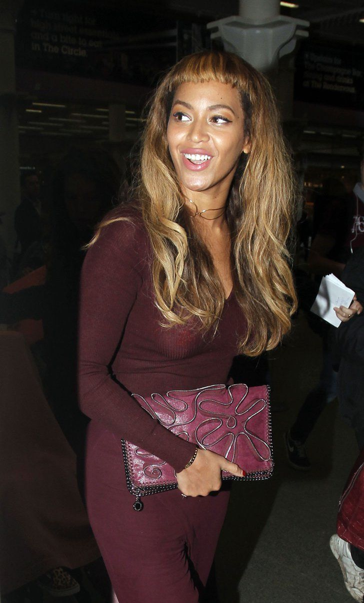 Pin for Later: Did Blue Ivy Cut Beyoncé's Baby Fringes? Beyoncé's New Bangs From the Front  . . . we have mixed emotions.