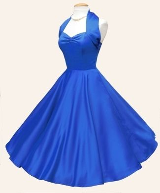 Tardis Blue Retro Bridesmaid Dress From Vivien Of Holloway