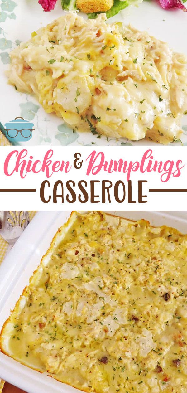 Photo of Chicken and Dumplings Casserole