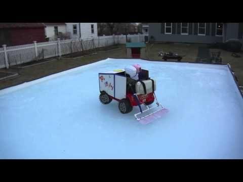 JAXEN THE ZAMBONI KID - YouTube   Backyard ice rink ...