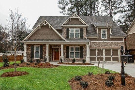 New homes by kerley family homes now being built at pine for Craftsman homes with stone