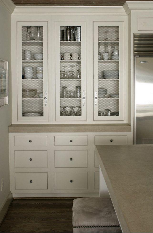 Kitchen Cabinet. Kitchen cabinet with chicken wire. # ...