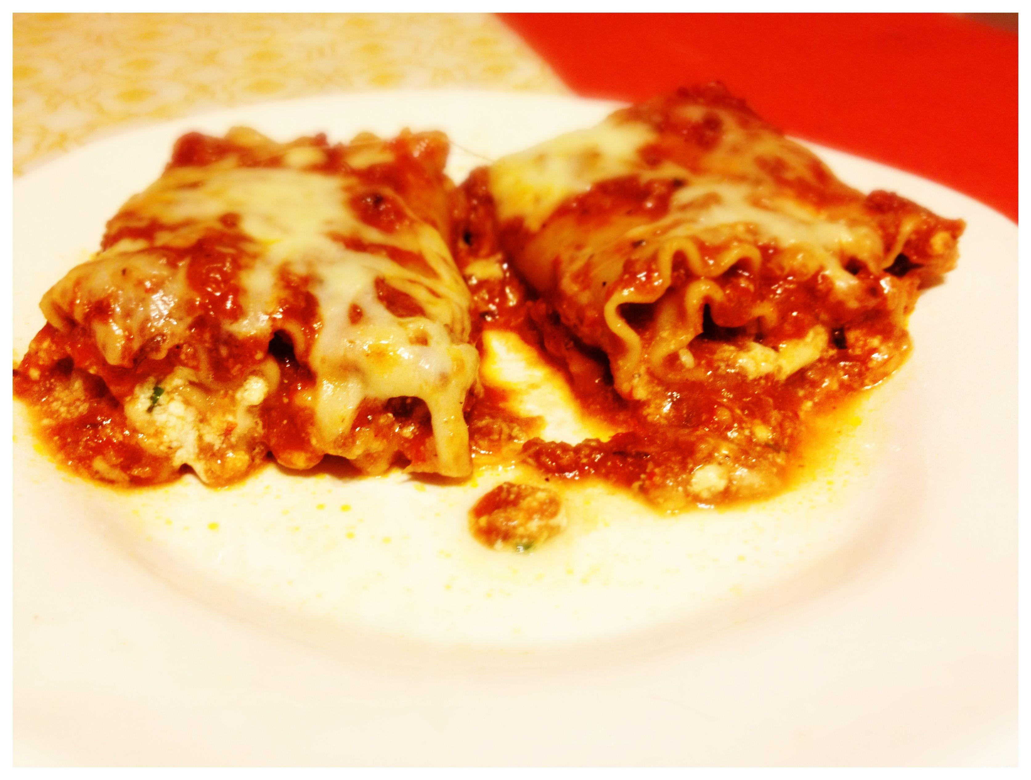 Lasagna Roll-Ups ... they were delicious!