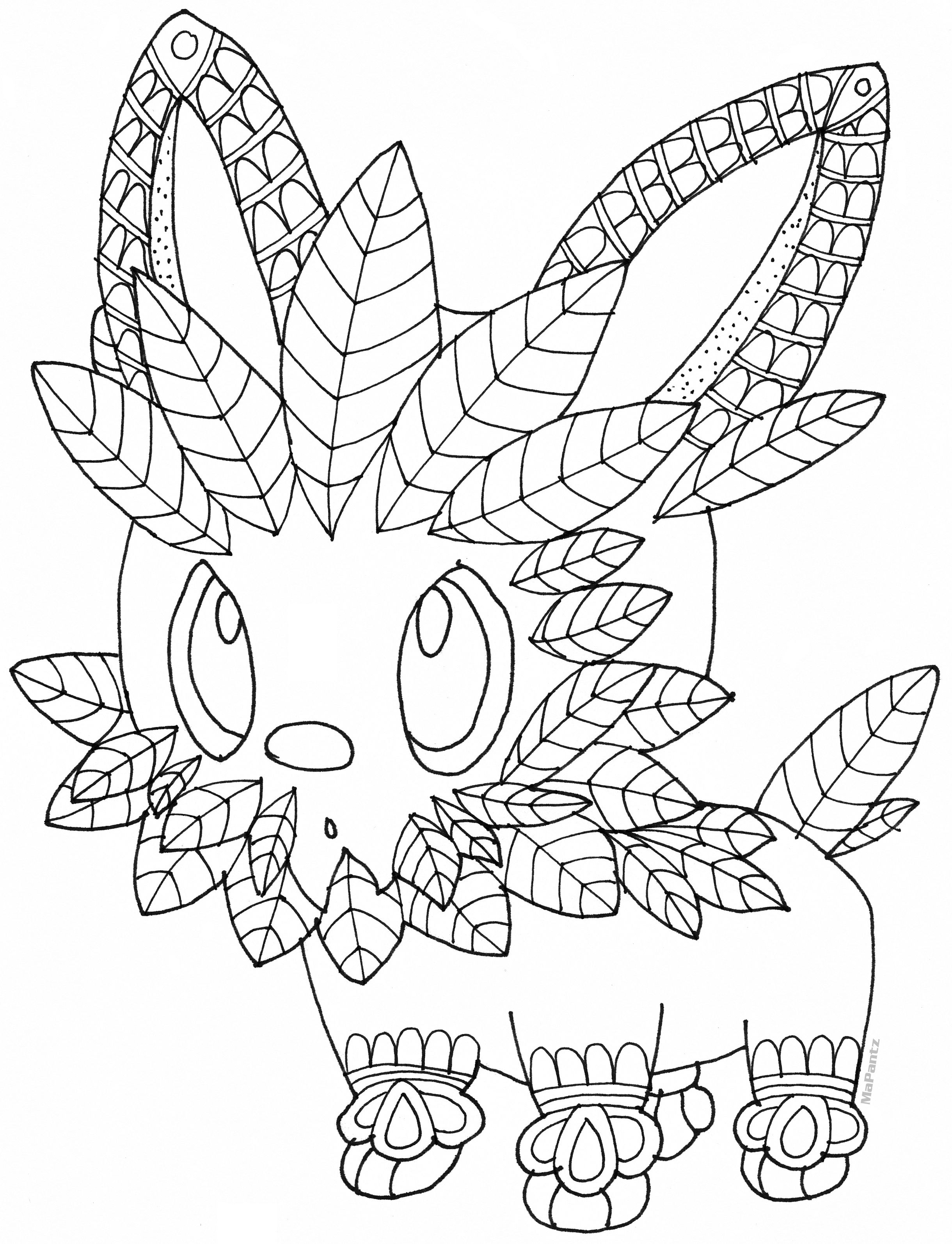 Pokemon Lillipup Free Coloring Page by MaPantz | stoutland | Pinterest