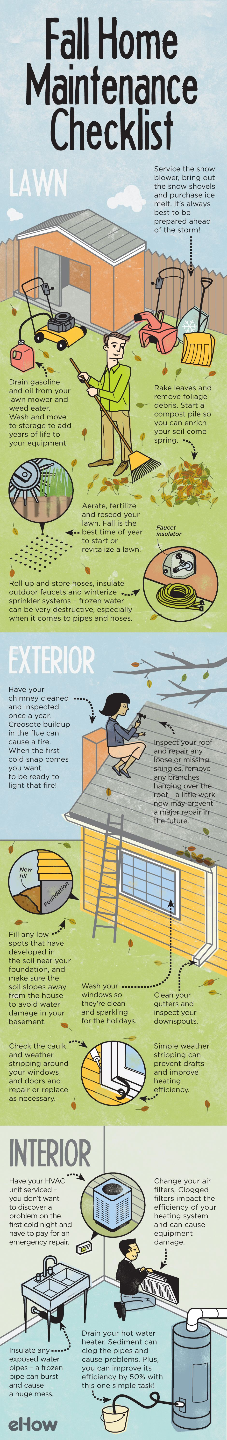 Fall Home Maintenance Tips fall home maintenance checklist | winter, cleaning and organizations