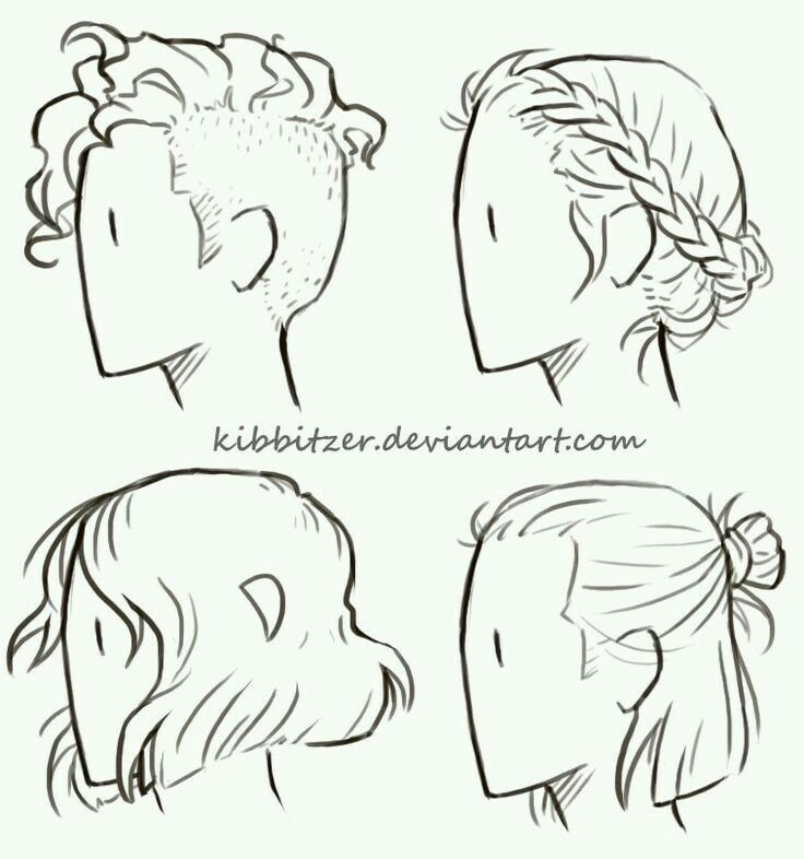 Short Hairstyles Art Reference Drawing Tips Drawings