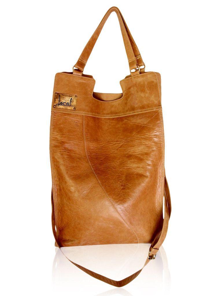 96389af297 Big leather bag fold over