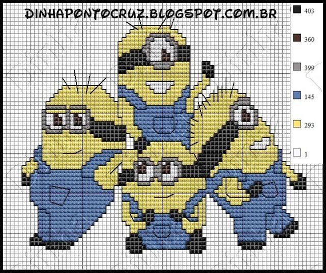 Pin von Shirley Williamson auf Cross Stitch Minions | Pinterest ...