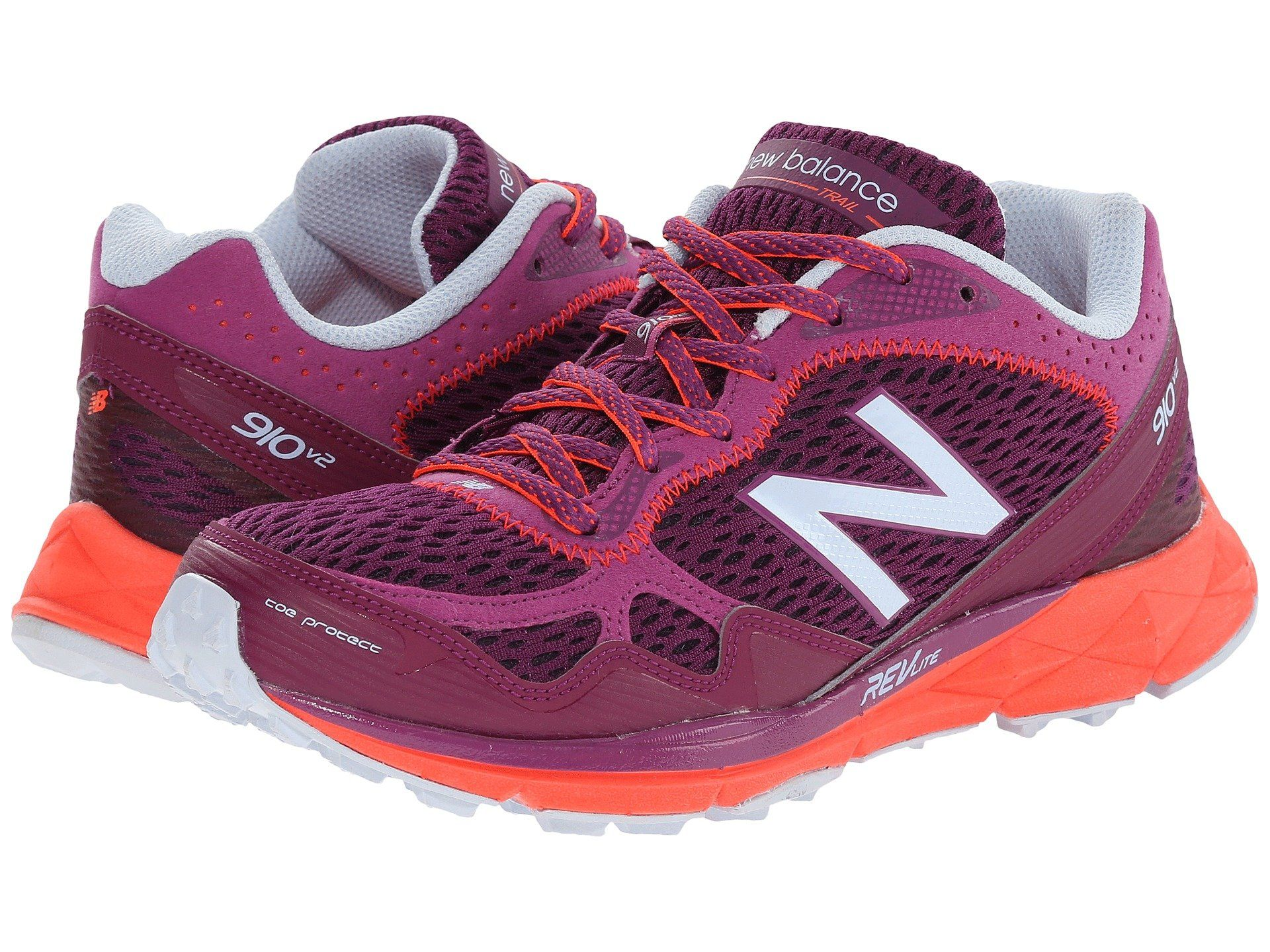 Womens Shoes New Balance WT910v2 Purple/Orange