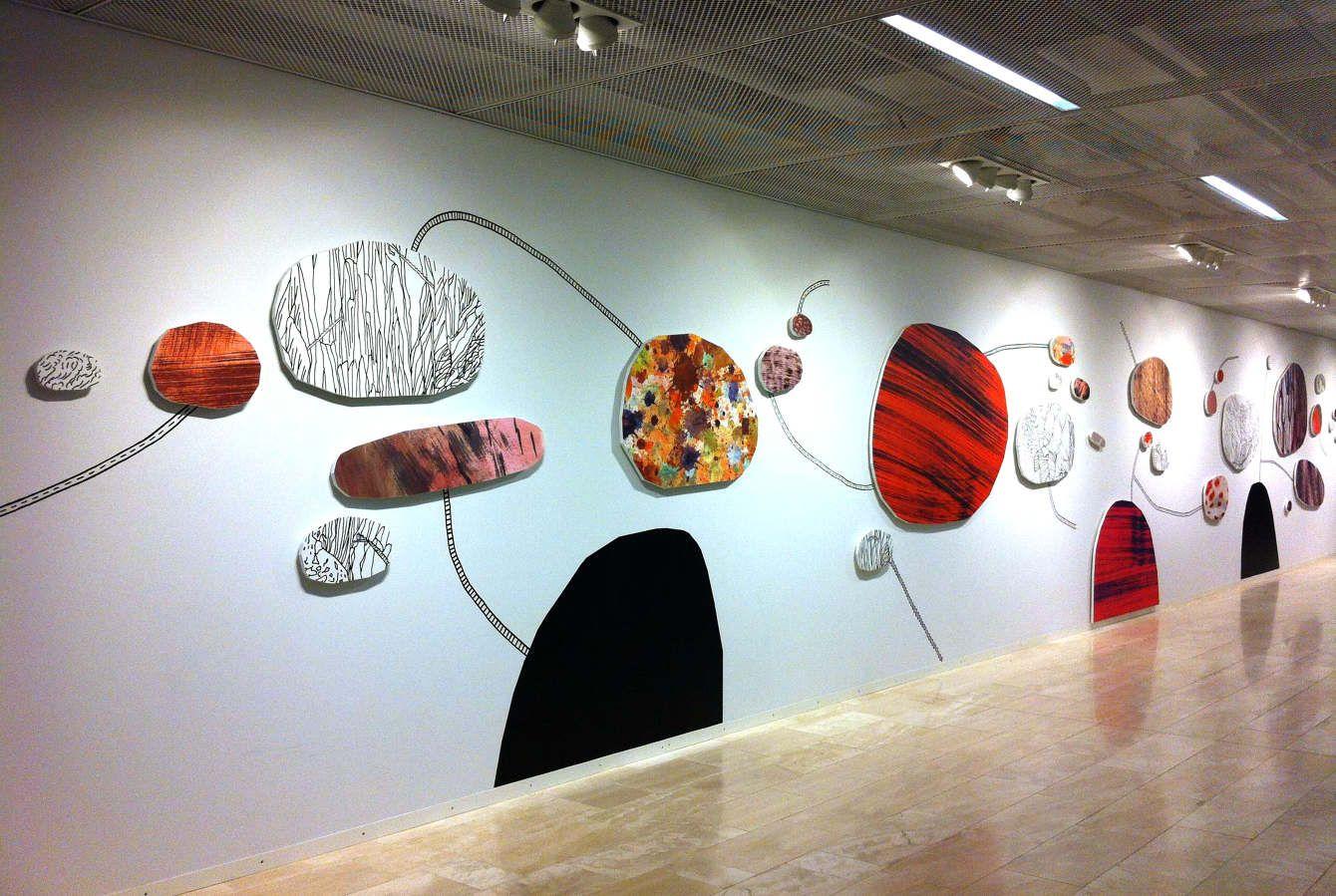 Small worlds - Jenni Rope -Permanent public artwork Kaisaniemi University Library Helsinki, Finland 2012