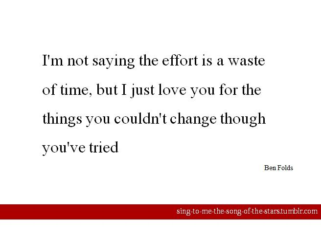 Ben Folds - Learn To Live With What You Are Lyrics ...