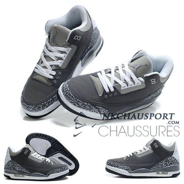 Nike Air Jordan 3 | Classique Chaussure De Basket Homme Grise