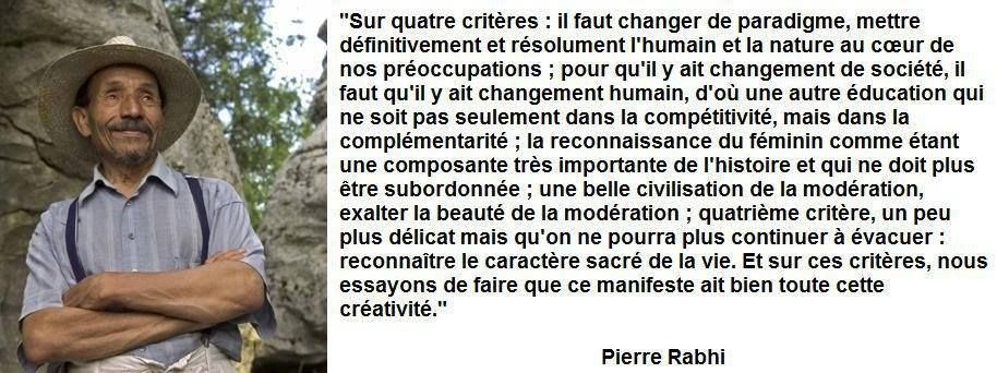 Pierrerabhi Avec Images Competitivite Changement Pierre Rabhi