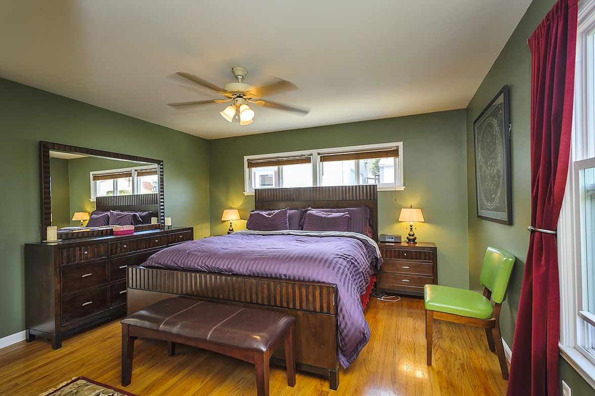 Master suite includes a large closet and en suite bath with a glass-framed shower. http://3902donner.com/
