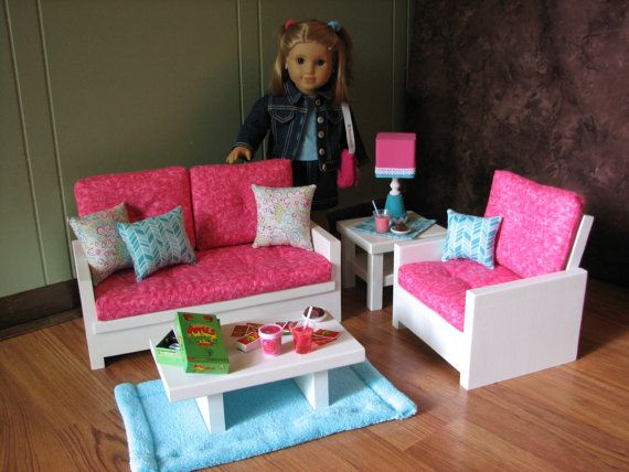 18 Doll Furniture American Girl Sized Living By MadiGraceDesigns Part 62