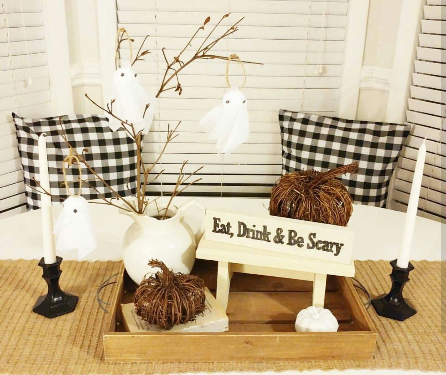 Elegant, Farmhouse Halloween Decor Country Halloween decor Black