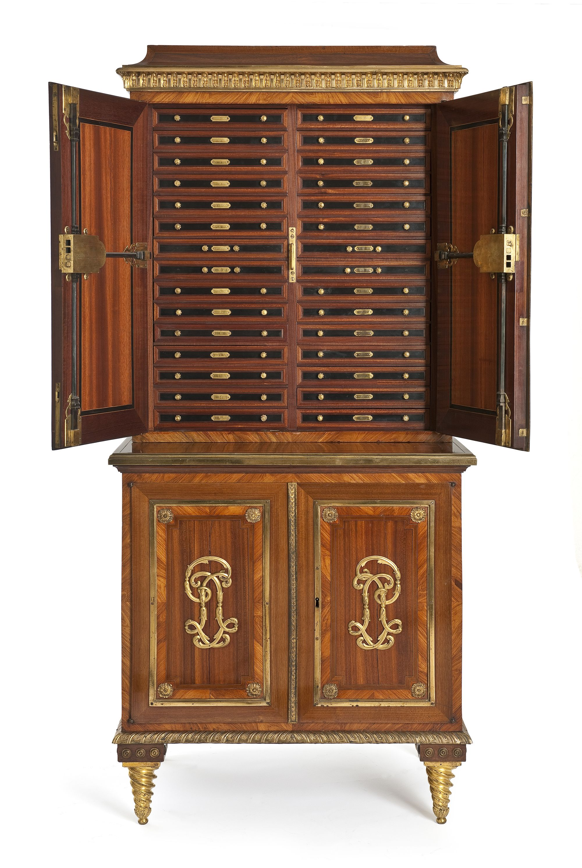 Award A Medal Paris Circa 1770 1775 Pierre Garnier Cabinet Frame Oak Veneer Satin Ebony Rosewood And Mobilier De France Meuble De Style Meuble De Metier