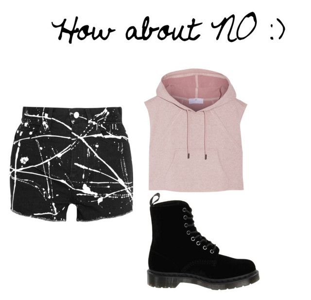 """""""No."""" by kathope on Polyvore featuring Yves Saint Laurent, adidas and Dr. Martens"""