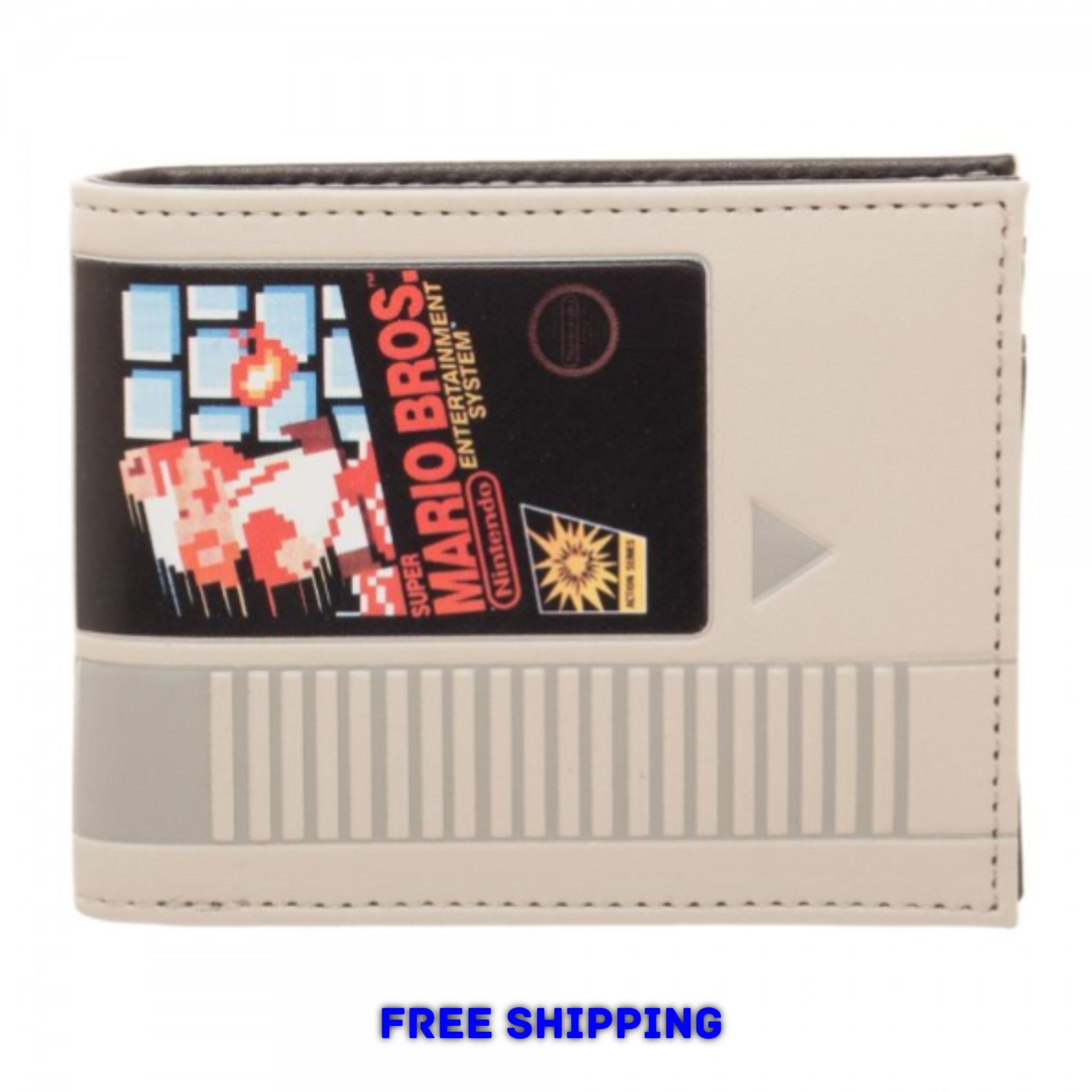Nintendo Classic Nes Super Mario Bros Cartridge Bi Fold Wallet Retro New Super Mario Super Mario Bros Nintendo Classic