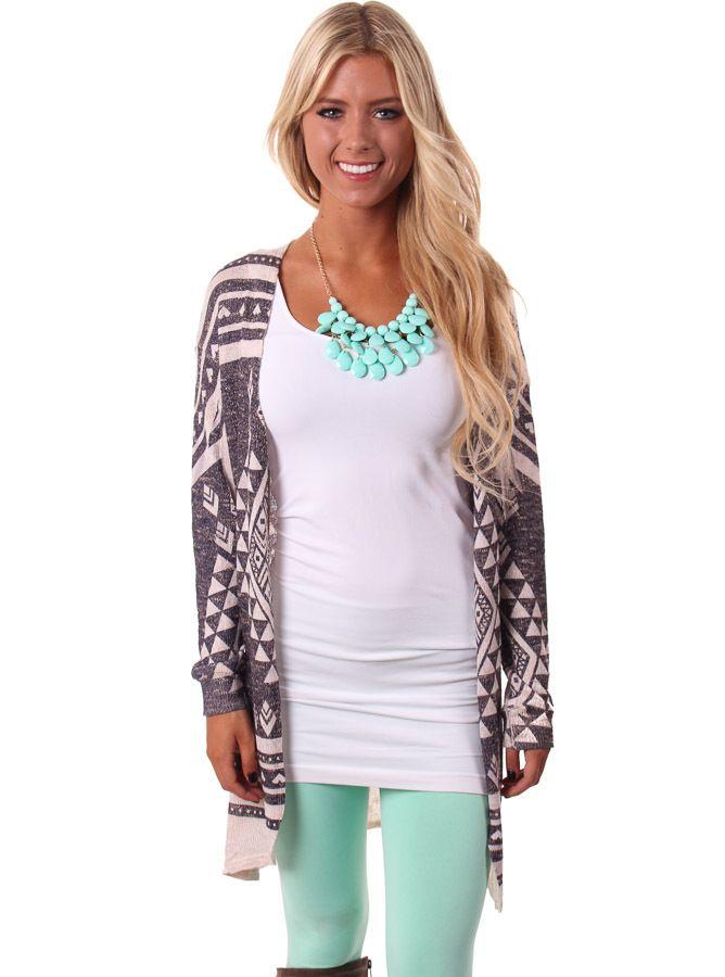 Lime Lush Boutique - Aztec Patterned Knit Cardigan , $46.99 (http://www.limelush.com/aztec-patterned-knit-cardigan/)
