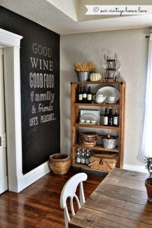 Elegant Tolle Idee f r eine freie Wand in der K che eine riesen Tafelwand Noch mehr Ideen