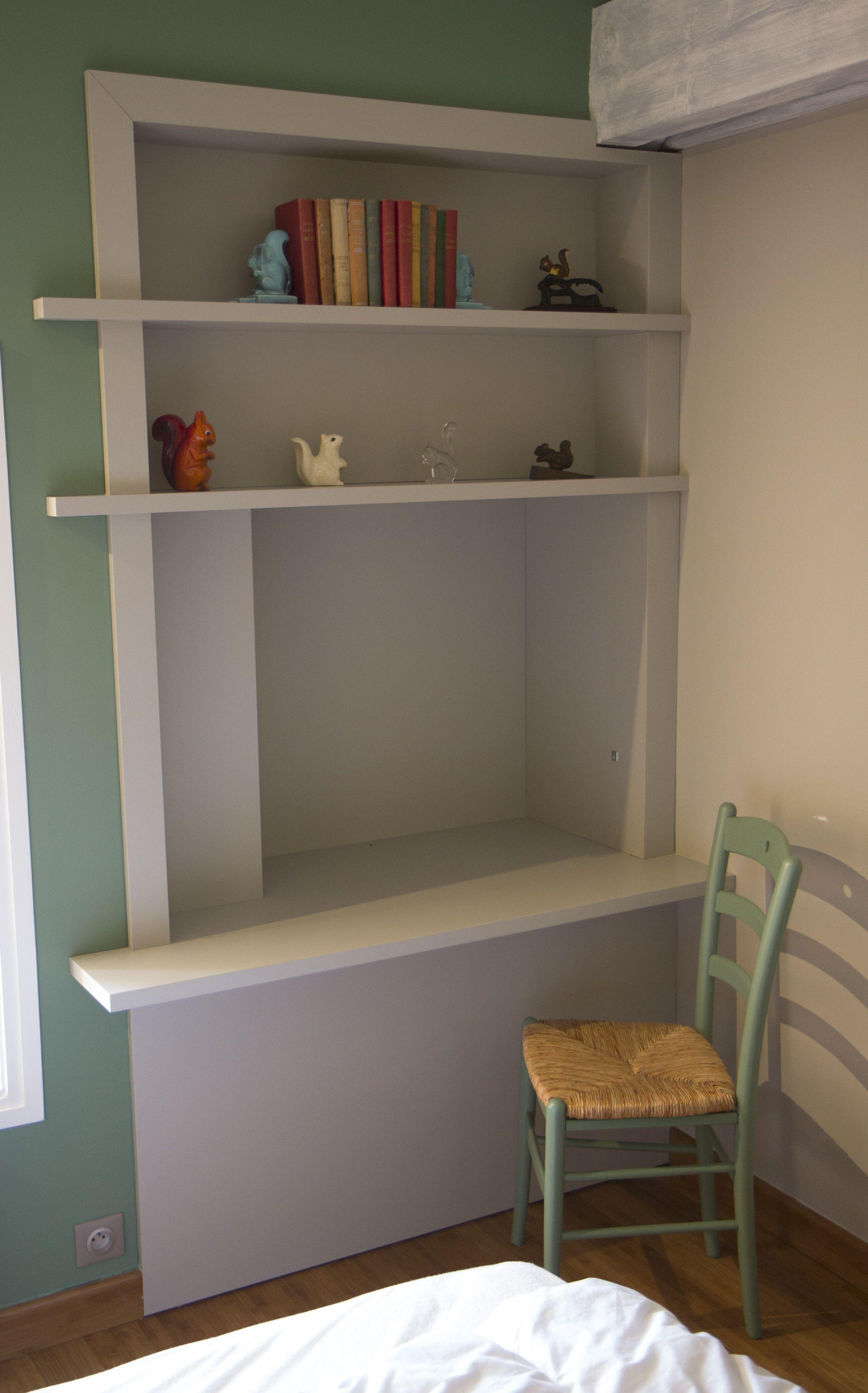 rnovation maison de campagne chambre coucher espace bureau encastr sur mesure bibliothque - Rnovation Maison De Campagne