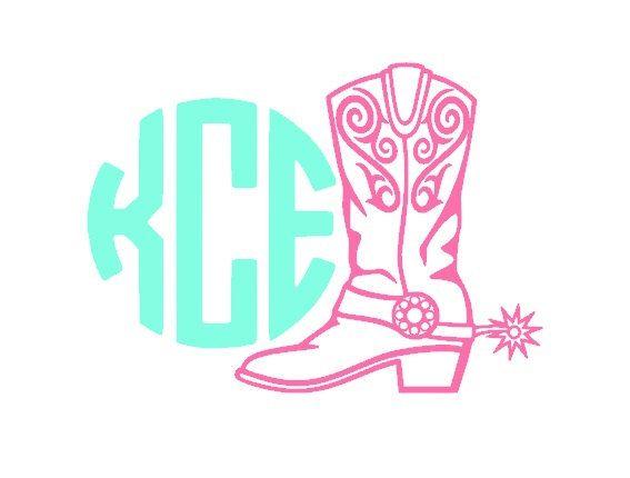 Custom Cowboy Boot Monogram Car Decal Country Girl Decal Hunting - Country girl custom vinyl decals for trucks