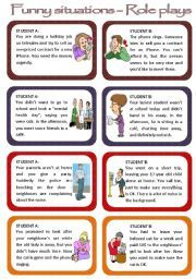 Role Plays For Intermediate Students Funny Situations Set 1 Speaking Activities English Speaking Activities Esl English Language Teaching