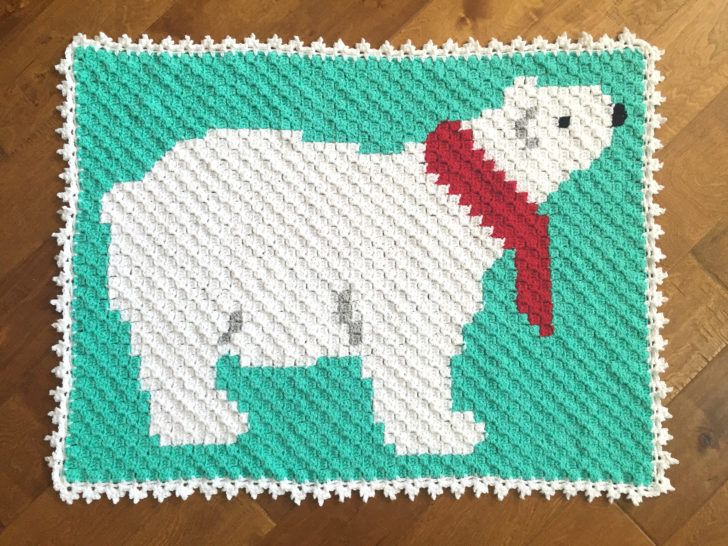 Polar Bear C2C Crochet Blanket | C2c | Pinterest | Ganchillo, Tejido ...