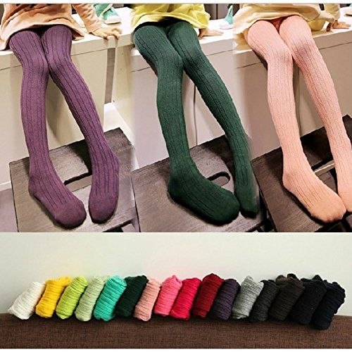 6f6c53be3845f Ehdching 5 Pack Baby Toddler Girls Children Cable Knit Cotton Tights  Leggings Stocking Pants S23 Years * ** AMAZON BEST BUY **