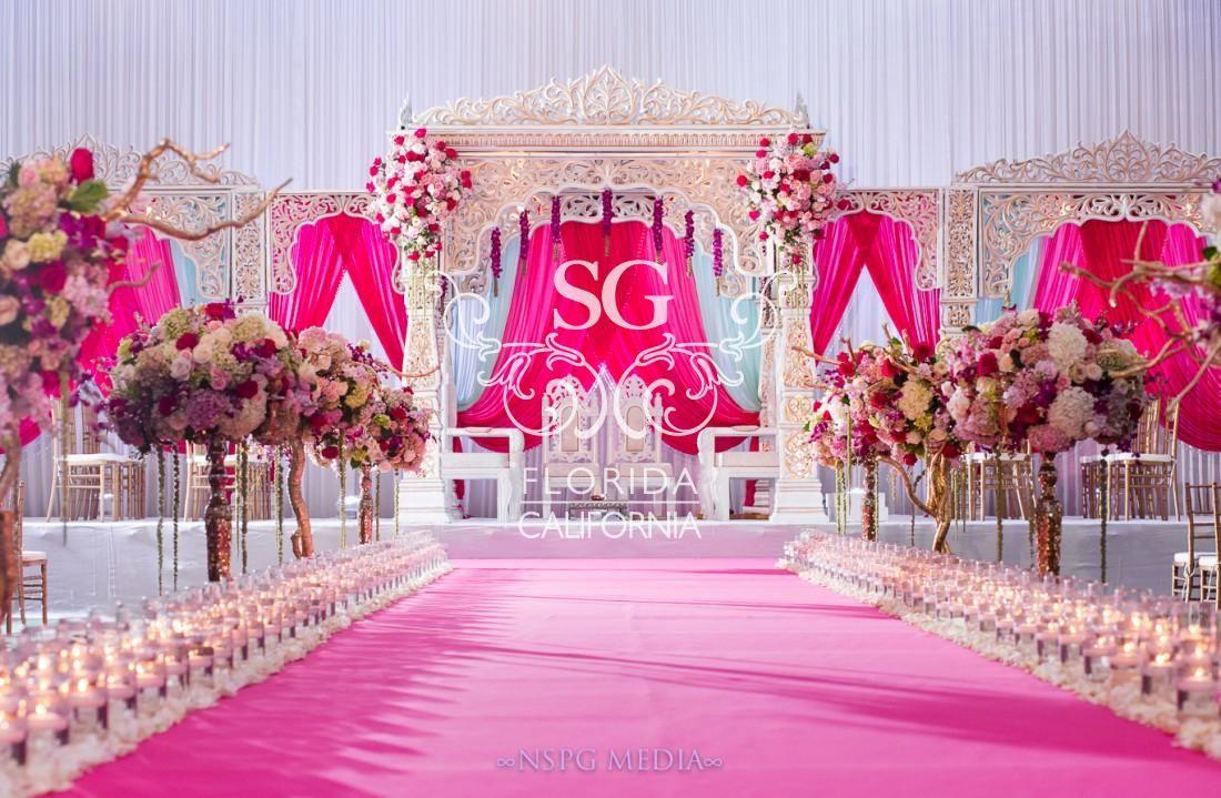 wedding aisle the boardwalk beach resort suhaag garden florida destination weddings indian