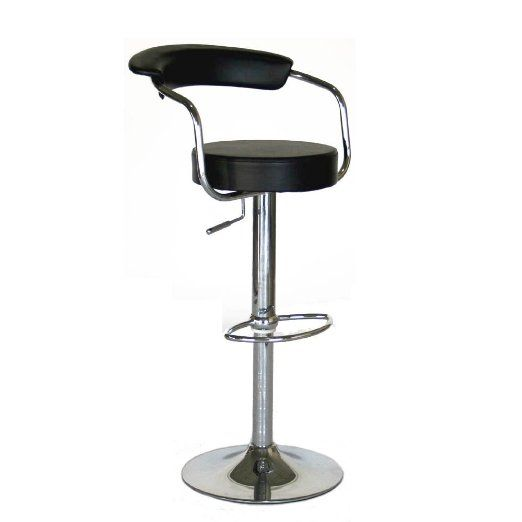 Modern Contemporary Adjustable Bar Stools, Set of 2